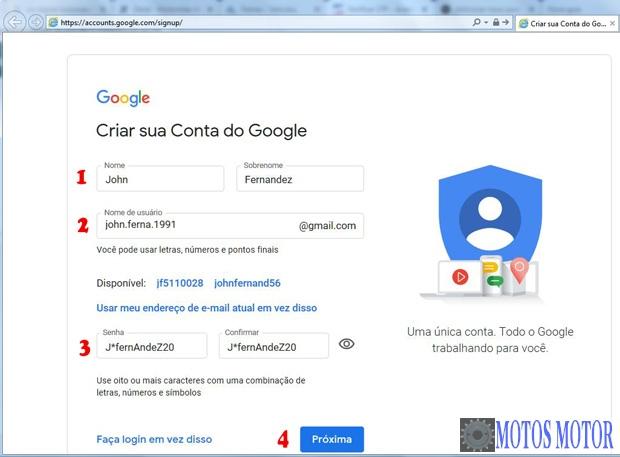 Como Criar uma Conta Gmail