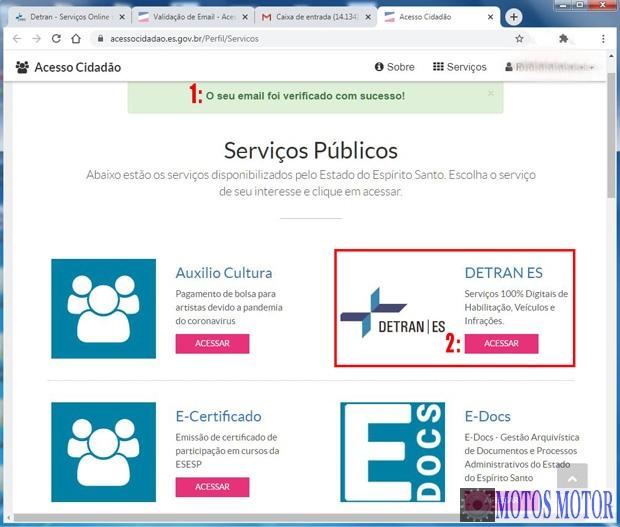 Portal Cidadão serviços disponíveis